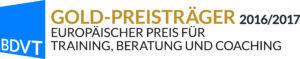 Gold-Gewinner des Europäischen Preises für Training, Beratung und Coaching 2016 (BDVT)